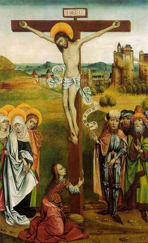 Crucifixion, from the St. Nicholas High Altar from Janosret, approx. 1480