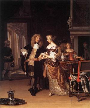 Elegant Couple in an Interior 1678
