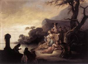 Finding of Moses in the Nile 1650