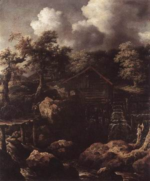 Forest Scene with Water-Mill c. 1650