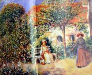 Garden Scene in Brittany,c.1886
