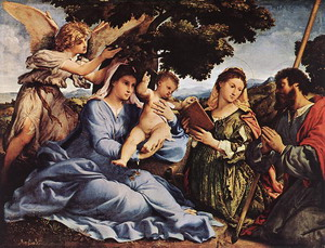 Madonna and Child with Saints and an Angel 1527-28
