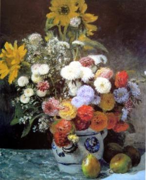 Mixed Flowers in an Earthenware Pot,c,1869
