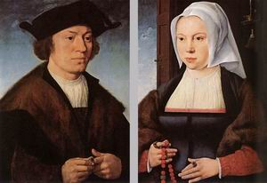 Portrait of a Man and Woman 1520 and 1527