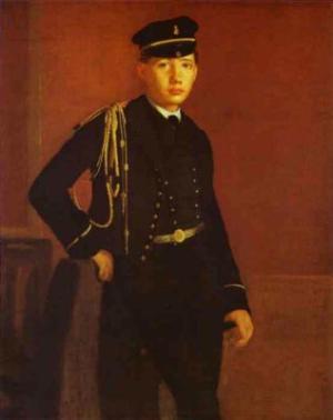 Portrait of Achille de Gas in the Uniform of a Cadet. 1856-1857