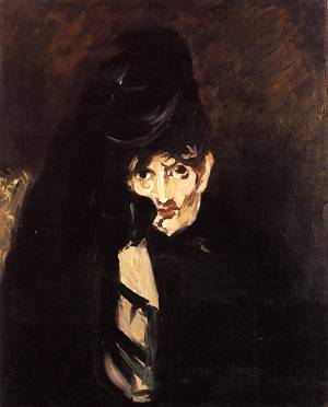 Portrait of Berthe Morisot with Hat in Mourning 1874