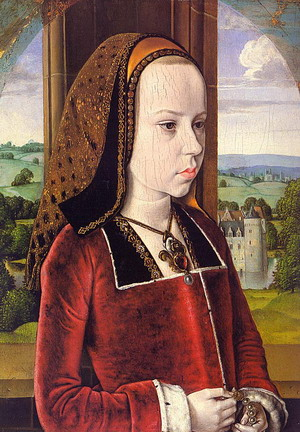 Portrait of Margaret of Austria 1490-91