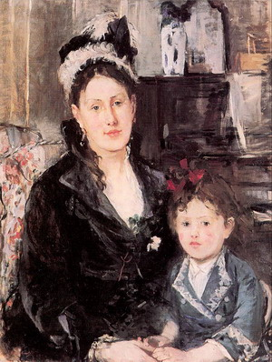 Portrait of Mme. Boursier and her Daughter 1874