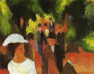 Promenade with Half-Length of Girl in White 1914