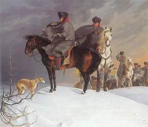 Prussian Cavalry Outpost in the Snow, 1821