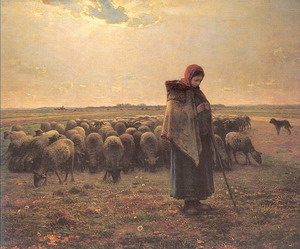Shepherdess with her Flock 1864