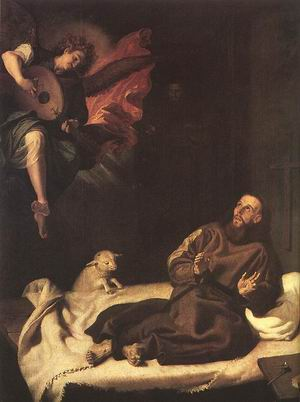 St Francis Comforted by an Angel c. 1620