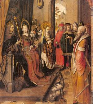 St. Ursula Announces her Pilgrimage to the Court of her Father