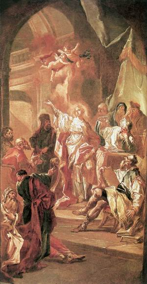 The Dispute between St Catherine of Alexandria and the Philosophers 1775