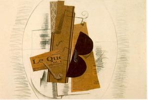 Violin and Pipe,Le Quotidien 1913