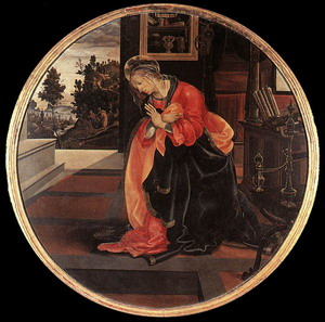Virgin from the Annunciation 1483-84