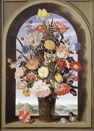 Bouquet in an Arched Window 1620