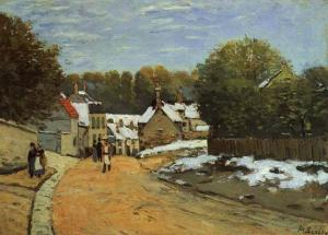 Early Snow at Louveciennes. 1871-2