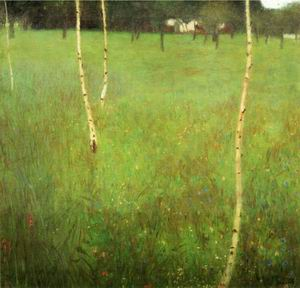 Farmhouses with Birch Trees 1900