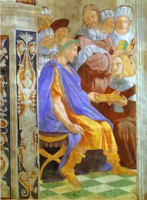 Justinian Presenting the Pandects to Trebonianus. 1511