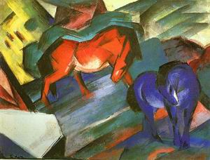 Red and Blue Horses (Rotes und Blaues Pferd), 1912