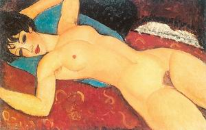 Red Nude (Nude on a Cushion) 1917