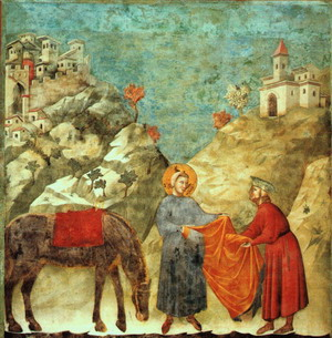 Saint Francis Giving his Mantle to a Poor Man 1300