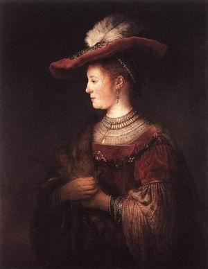 Saskia in Pompous Dress c. 1642