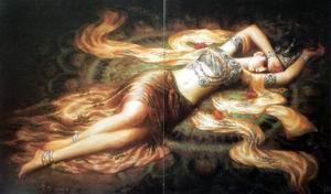 Sleeping Girl Painting