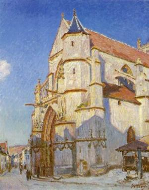 The Church at Moret. 1894