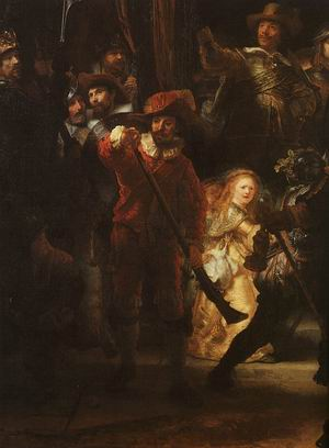 The Company of Frans Banning Cocq Preparing to March (The Night Watch), detail, 1642
