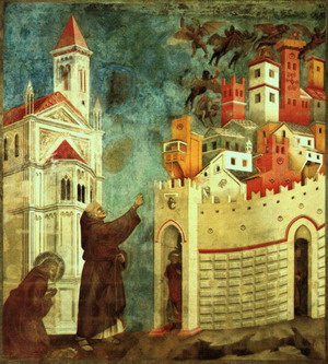 The Devils Cast Out of Arezzo, before 1300