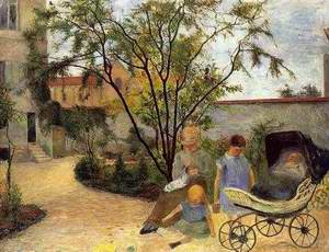 The Family In The Garden Rue Carcel