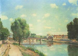 The Railway Bridge at Pontoise 1873