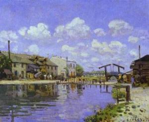 The Saint-Martin Canal. 1872