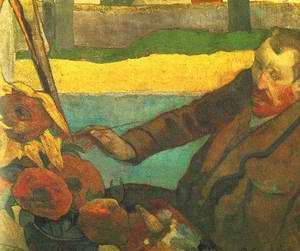 Vincent van Gogh Painting Sun Flowers