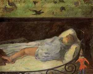 Young Girl Dreaming Aka Study Of A Child Asleep The Painters Daughter Line Rue Carcel