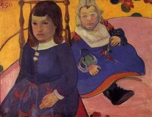 Portrait Of Two Children Aka Paul And Jean Schuffenecker