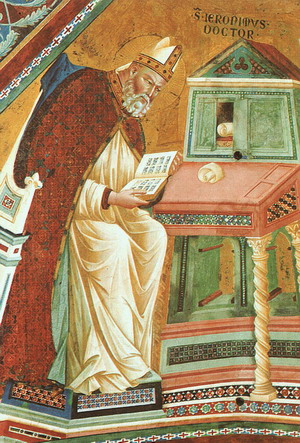 The Doctors of the Church, detail of St. Jerome 1300