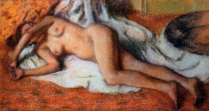 After the Bath Pastel 1885