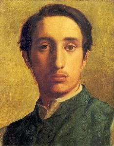 Degas in a Green Jacket 1855-56