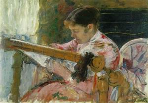 Lydia Seated at an Embroidery Frame 1880-81