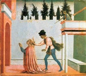 Martyrdom of St Lucy (predella 5) c. 1445