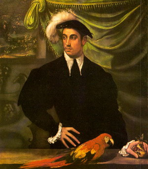 Portrait of a Gentleman with a Parrot, 1552-55