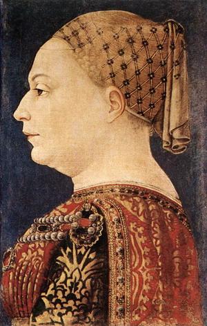 Portrait of Bianca Maria Sforza c. 1460