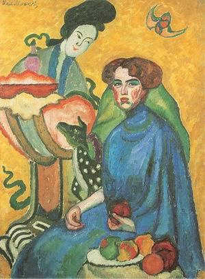Portrait of Yevgenia Kirkaldi 1910