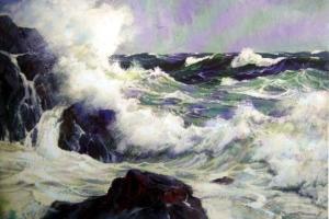 Rough sea coast