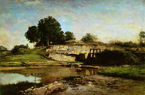 The Flood-Gate at Optevoz 1859