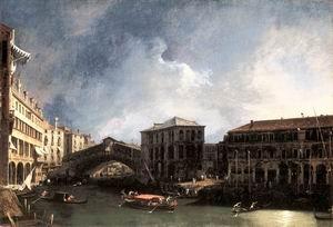 The Grand Canal near the Ponte di Rialto 1725