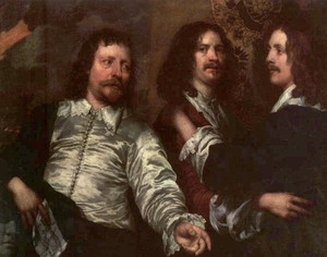 The Painter with Sir Charles Cottrell and Sir Balthasar Gerbier about 1645